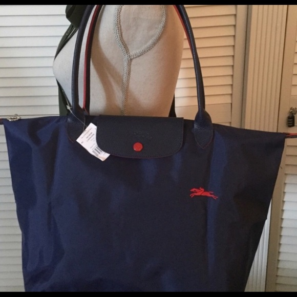 cf5c203766175 Longchamp Le Pliage Club Tote Navy Limited Ed bag